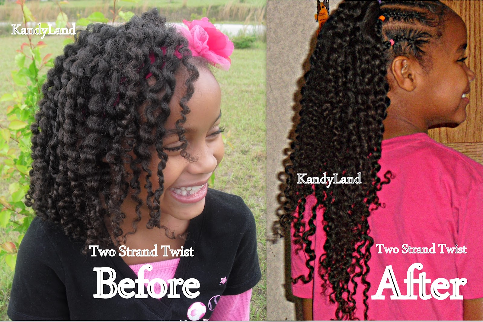 Fabulous Kandyland How To Elongate Your Twist Outs Short Hairstyles For Black Women Fulllsitofus