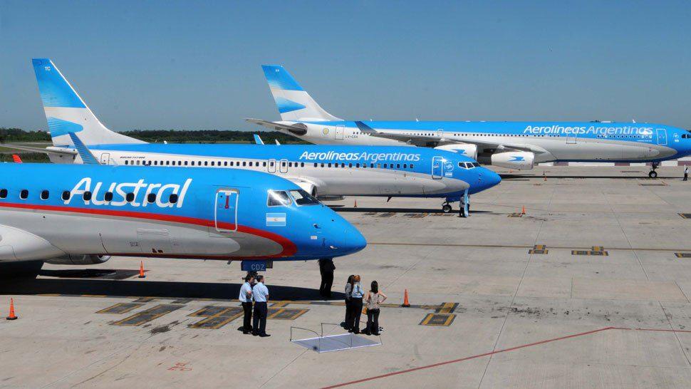Aerolíneas Argentinas anunció la fusión con Austral en una sola compañía