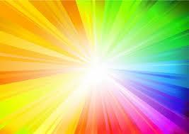 червено, оранжево, жълто, зелено, синьо, индиго и виолетово
