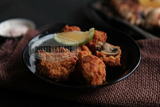 Resep Pan Grilled Ayam dengan Jamur Goreng
