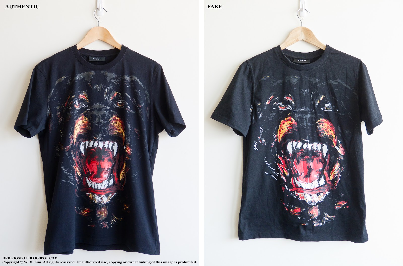 3bd52bd4 ... Rottweiler Wearing A Shirt: How Do You Tell The Difference Between  Real/fake Givenchy ...
