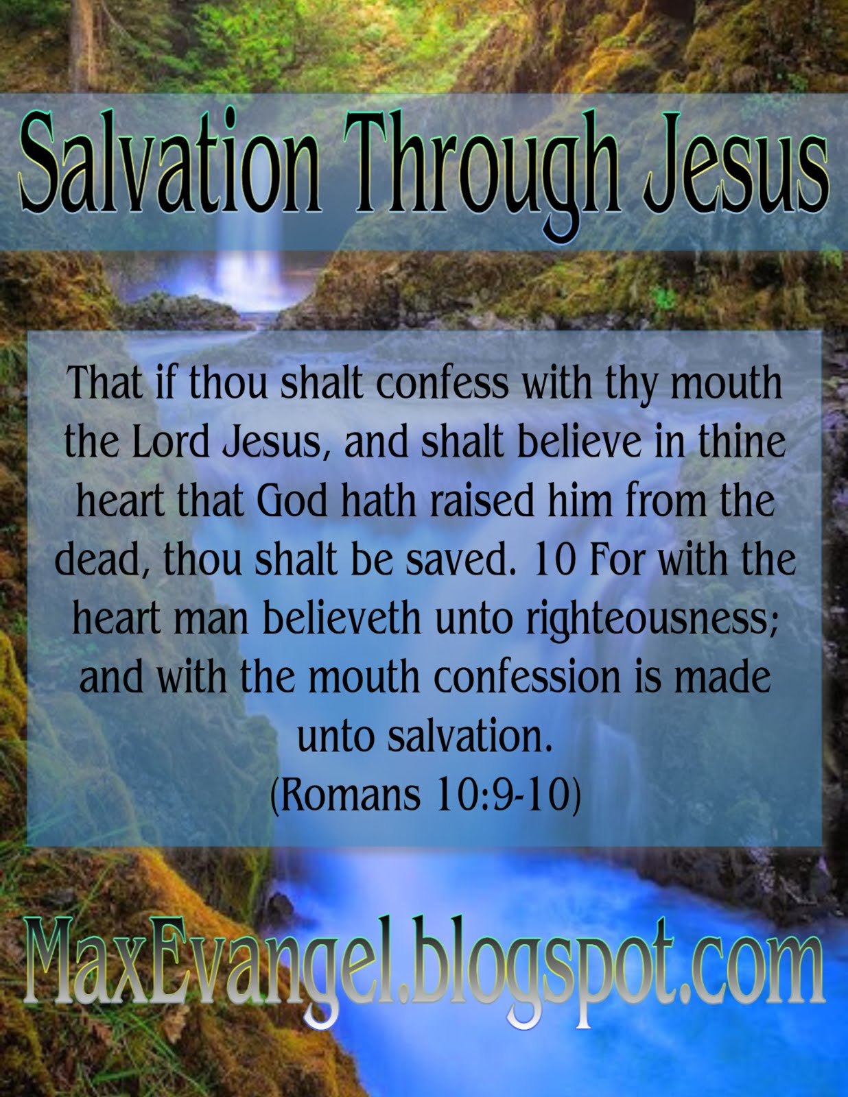 Salvation is Through Faith in Jesus Christ
