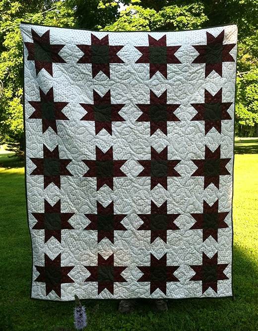 Charming Star Quilt Free Tutorial Designed by Joanne Hubbard for Everyone Deserves a Quilt