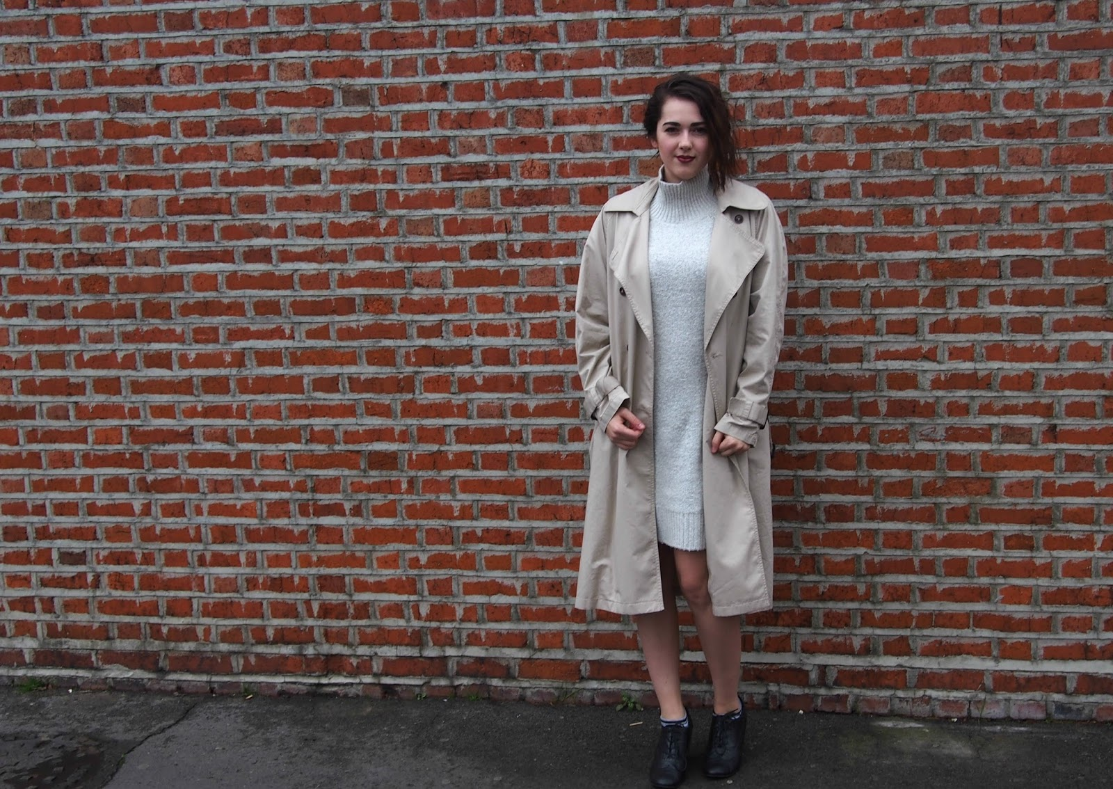 Modelling the jumper and trench coat