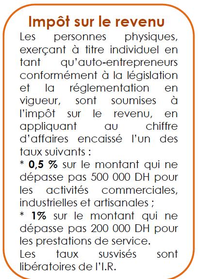 Régime Fiscal de l'Auto-entrepreneur -les impôts