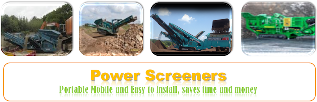 Power Screening Equipments on Rent, Screening Services for sand, soil, quarry dust, aggregates, gravels, metals waste, construction waste