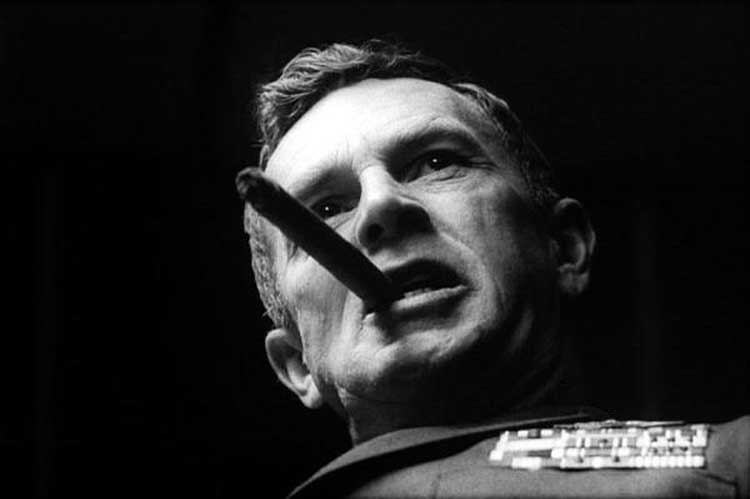 Sterling Hayden starred in Dr. Strangelove.