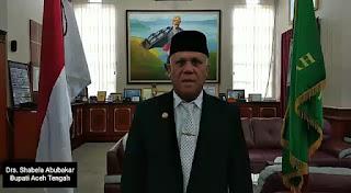 Bupati Aceh Tengah Drs. Shabela Abubakar Apresiasi Pemilu 2019