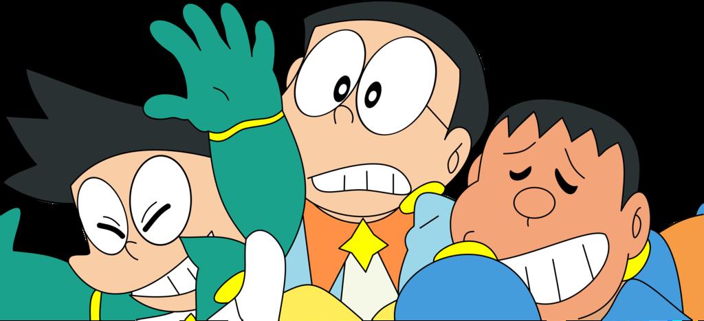 Nobita Suneo and Gyan