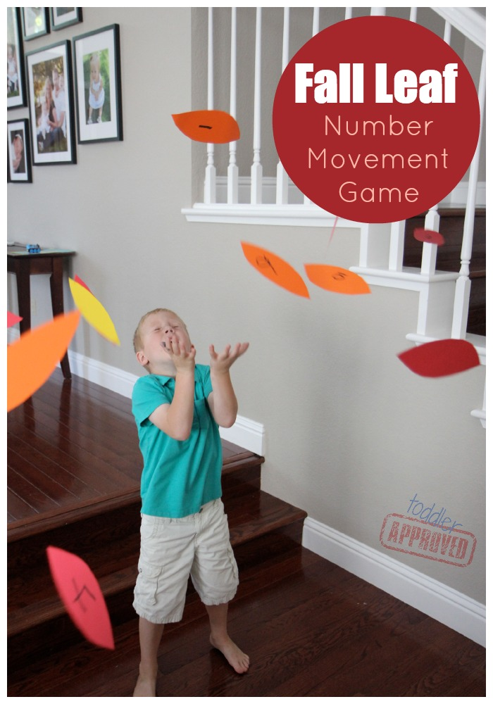 Toddler Approved Fall Leaf Number Movement Game
