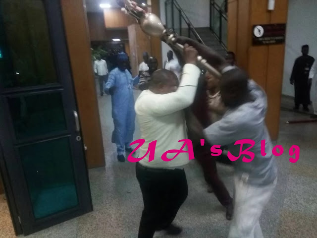 Thugs invade Nigerian senate plenary, snatch mace [PHOTOS]