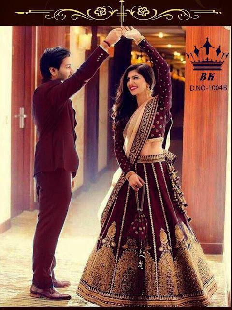 Bk Fashion 1004 A b Bridal Lehenga Choli - wedding collection
