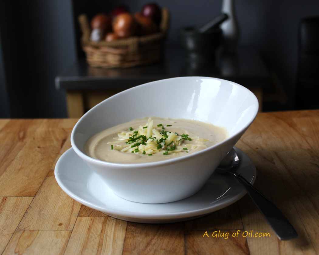 Roasted Cauliflower Cheese Soup