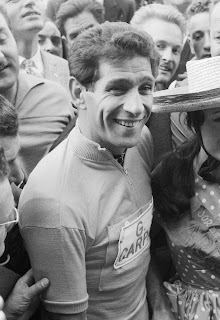 Gastone Nencini in buoyant mood after winning the Tour de France in 1960