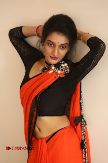 Actress Janani Reddy Pictures in Saree at Lakshmidevi Samarpinchu Nede Chudandi Platinum Disc Function  0105