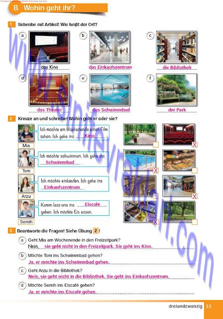 Almanca A1.2 Çıpa Yayınları Çalışma Kitabı Cevapları Sayfa 23