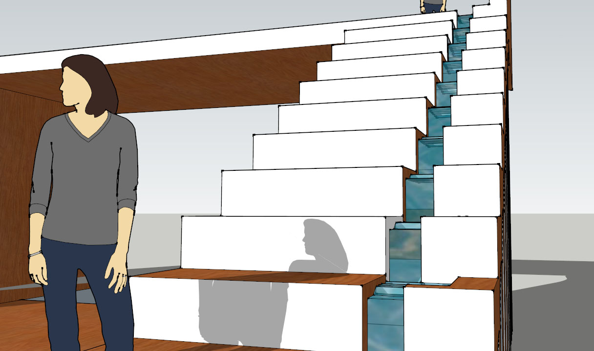 Chris Lau Zen Water Feature Stairs Sketchup Model