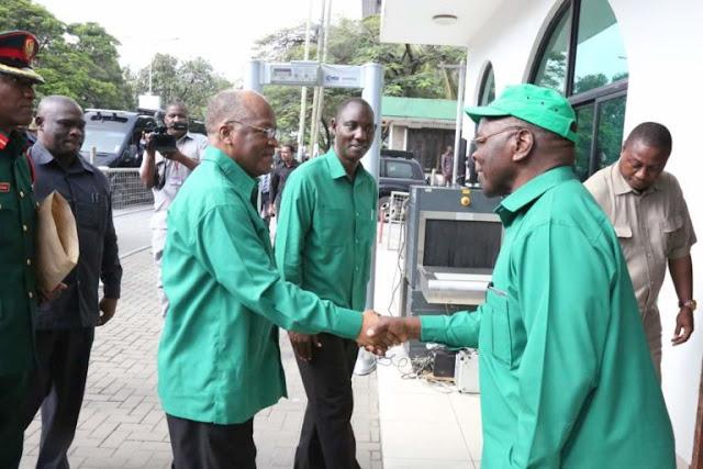 Mwenyekiti Wa CCM Taifa, Dkt. John Magufuli Aendesha Kikao Cha Kamati Kuu Ya Hlmashauri Kuu Ya CCM Taifa