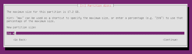 ubuntu minimal cd new partition space