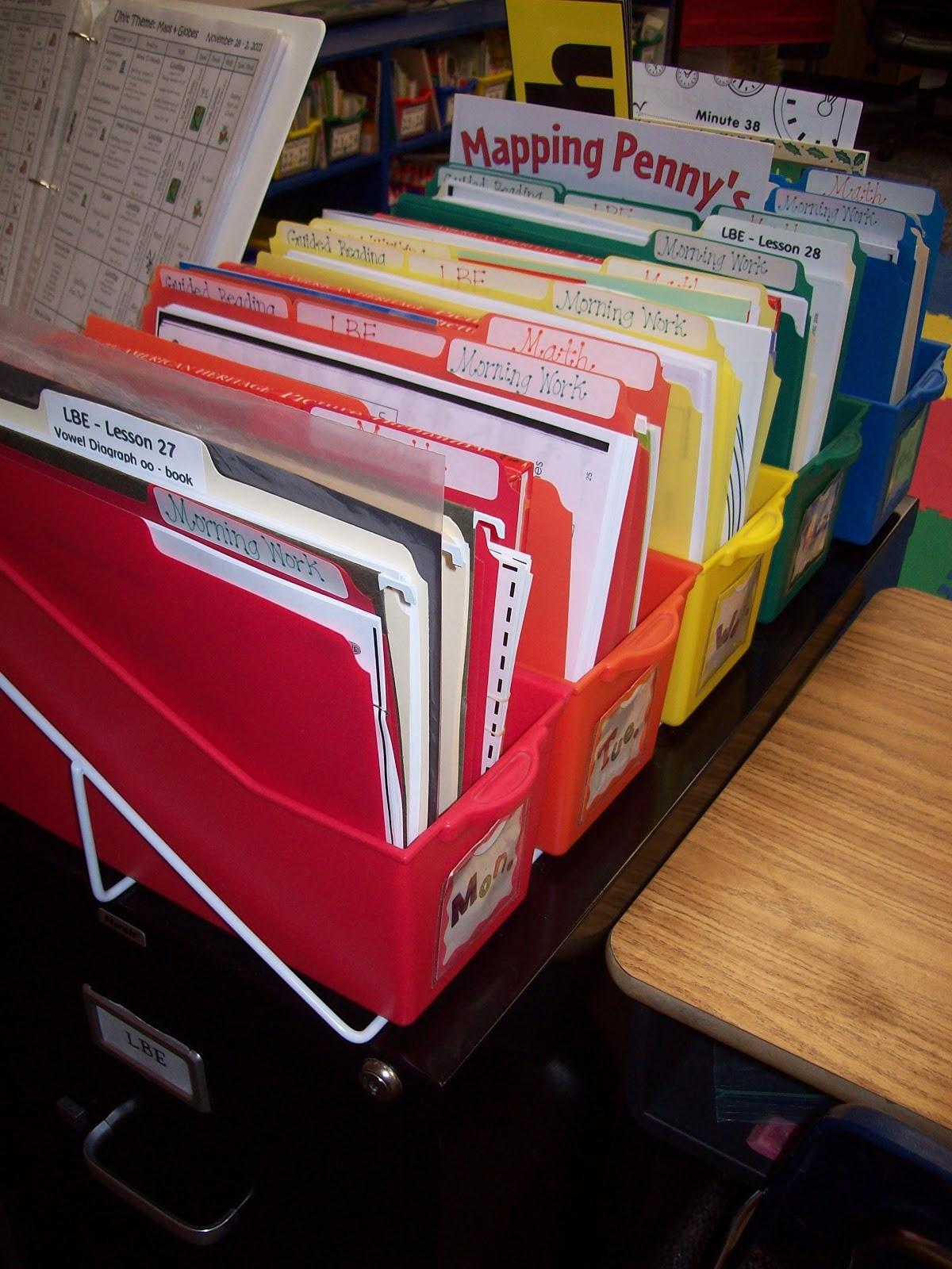 Organizing Worksheet Classroom