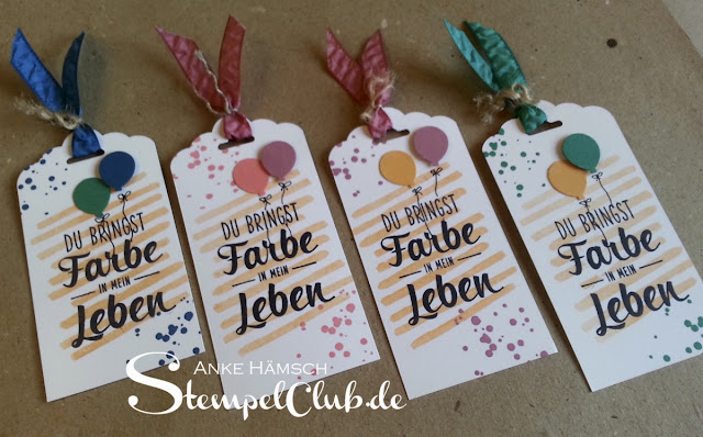 stampin up, Anhänger, Tags, Alles Palette, Playful Backgrounds, Ballons