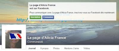 Rejoindre la page Facebook d'Alicia France : L'actu de France et d'ailleurs  dans Culture page%2Bfacebook