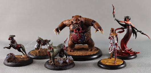 Malifaux - Teddy, Bete Noire, Doppleganger and Canine Remains