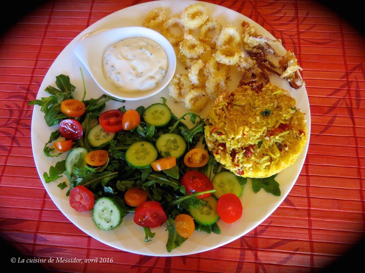 La cuisine de messidor calmars sans friture 2 croquettes de riz - Cuisine etudiante sans four ...