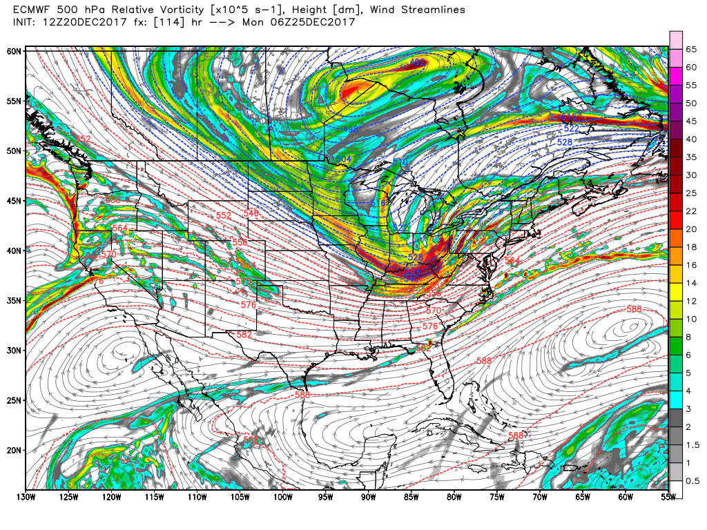 an even bigger story than the weekend will be what s coming for portions of the great lakes ohio valley and northeast for christmas eve night into