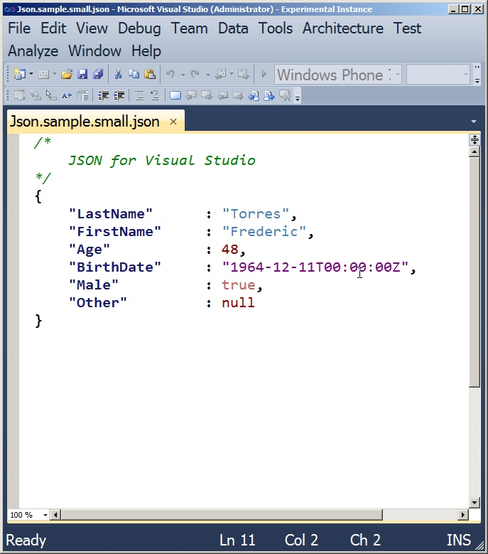 Frederic Torres Blog: JSON Syntax Highlighting And