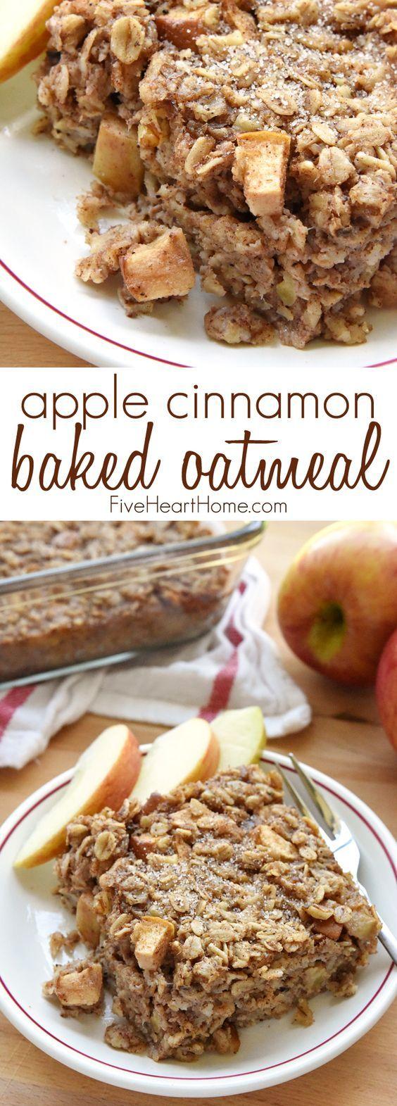 Apple Cinnamon Baked Oatmeal #apple #cinnamon #oatmeal #breakfast #breakfastrecipes #breakfastideas #applecinnamonbaked