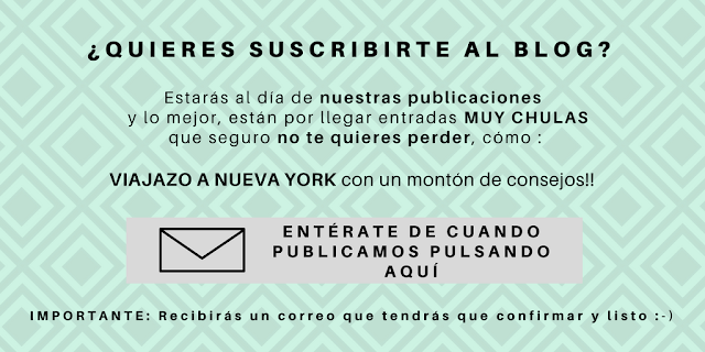 suscribete al blog preparar maletas