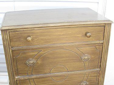 Antique Dresser Goes Blue