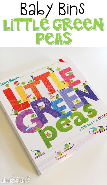 Little Green Peas is our favorite green themed read aloud. These Baby Bin plans are perfect for learning with little ones between 12-24 months old.
