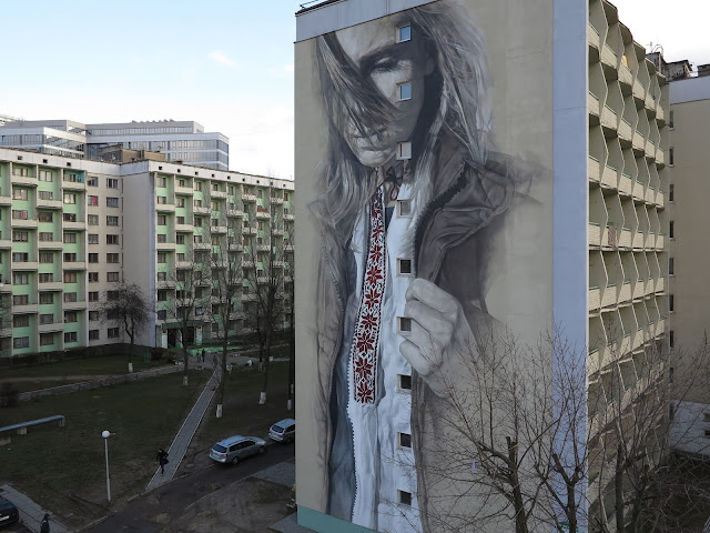 While we last heard from him in Ukraine a few days ago, Guido Van Helten is now in Belarus where he just wrapped up a fantastic piece of work somewhere on the streets of Minsk.
