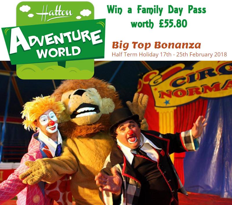 Big Top Bonanza at Hatton Adventure World | Win a family ticket with the Globe Trotter