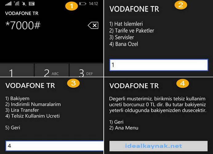 Vodafone Telsiz Kullanım Borcu Öğrenm