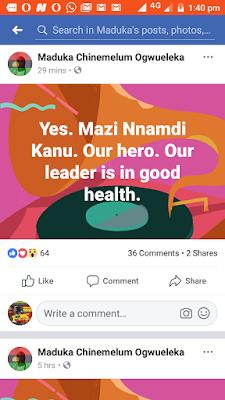 Dr. Maduka Ogwuleka Facebook Message on Nnamdi Kanu