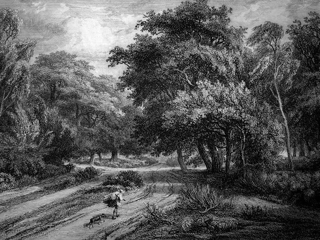 Le Nid de l'Aigle, gravure de Charles-François Daubigny