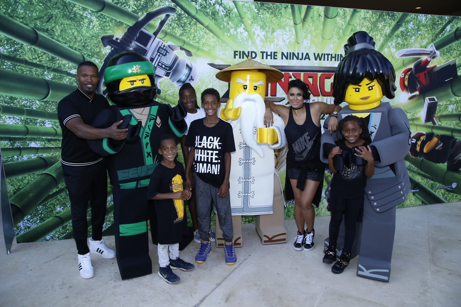 Jamie Foxx, Blac Chyna, Laura Govan at LEGO NINJAGO Back To School Bash  via  www.productreviewmom.com