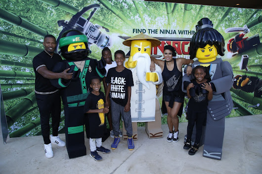 Jamie Foxx, Blac Chyna, Laura Govan at LEGO NINJAGO Back To School Bash