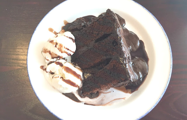 chocolate fudge cake pudding at the anson wallsend