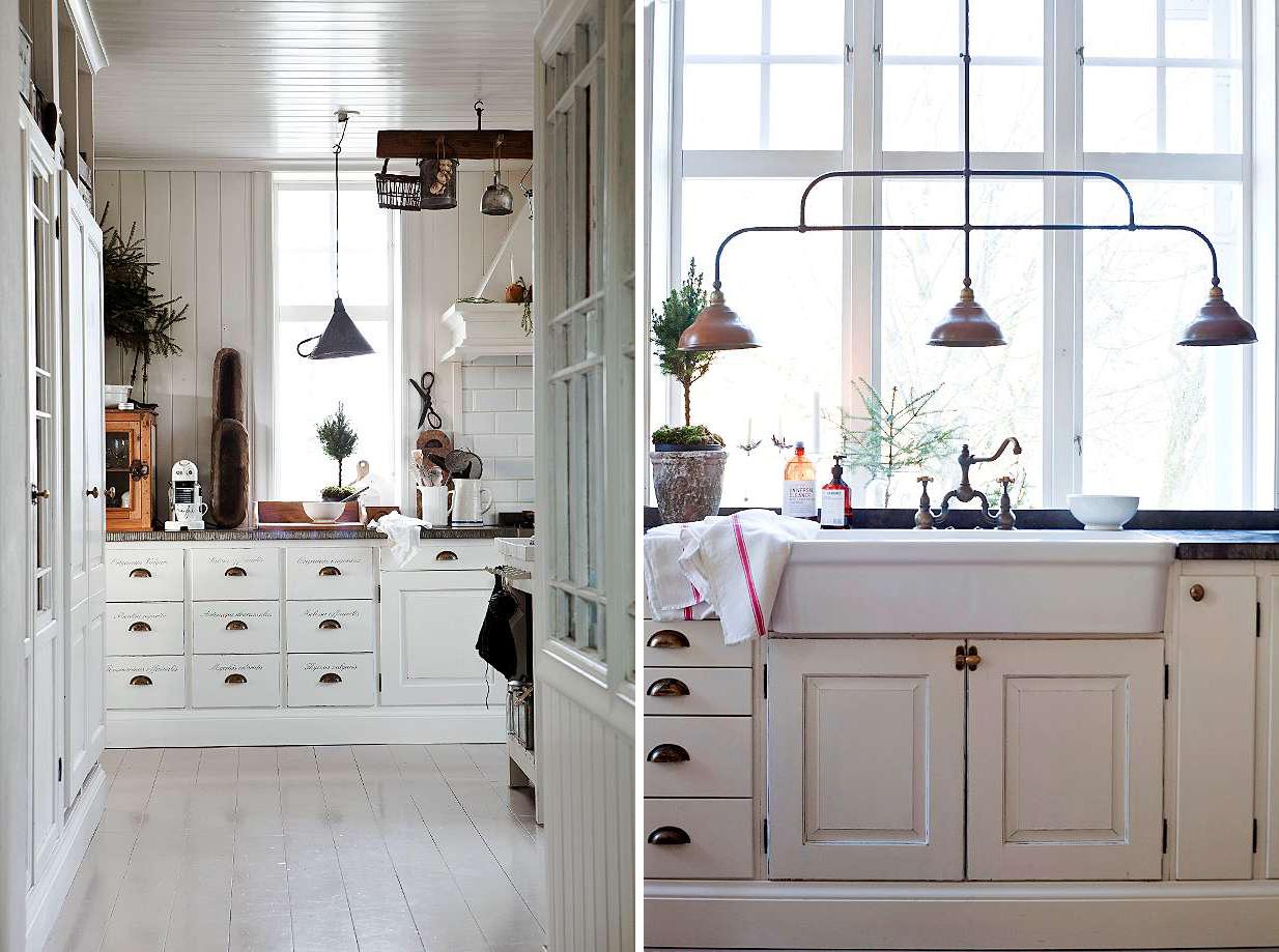 Tipica casa svedese shabby chic interiors - Shabby chic interiors a casa di federica ...