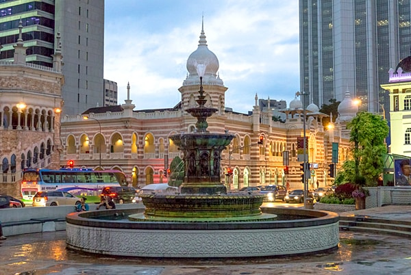 Victoria Fountain at Merdeka Square