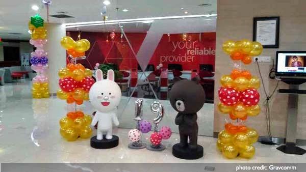 patung maskot boneka kelinci beruang balon