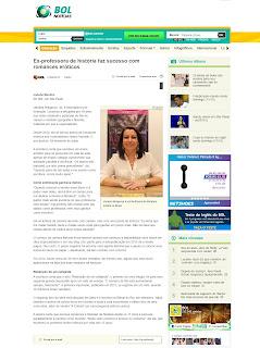 Entrevista de Nana Pauvolih para o Portal de Internet Bol