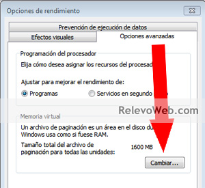 Memoria virtual de Windows