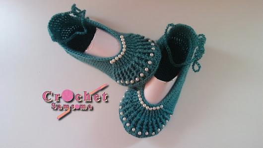 Httpcrochetsamsomaspot201809crochet Ballet Slippers