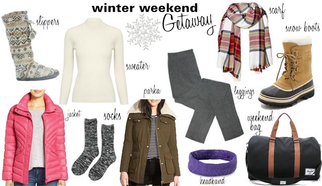 What to Pack: Winter Weekend Getaway