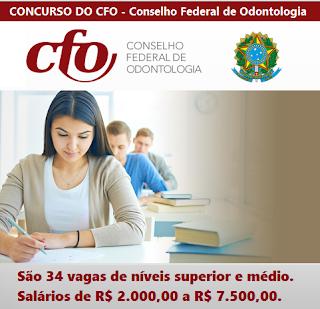 Apostila concurso Conselho Federal de Odontologia - CFO 2017.